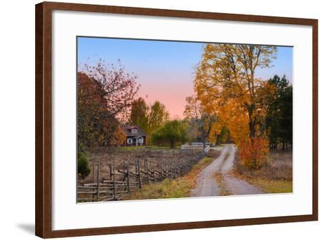 Landscape in Sweden-almgren-Framed Art Print