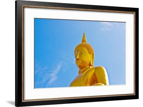 Buddha  Gold Statue-redarmy030-Framed Art Print