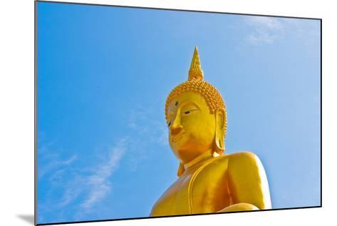 Buddha  Gold Statue-redarmy030-Mounted Photographic Print