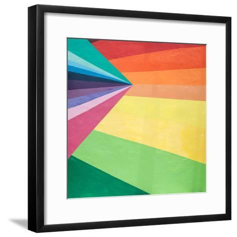 Colored Stripes & Pattern-Brians Photos-Framed Art Print