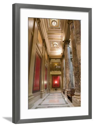 Minnesota Capitol Corridor-jrferrermn-Framed Art Print