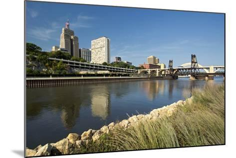 Railroad Track and Robert Street Bridge from Raspberry Island. Downtown Saint Paul, Minnesota-PhotoImages-Mounted Photographic Print
