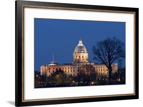 Minnesota State Capitol at Night-jrferrermn-Framed Art Print