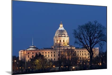 Minnesota State Capitol at Night-jrferrermn-Mounted Photographic Print