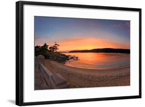 Sunrise Balmoral Beach Panorama  Australia-lovleah-Framed Art Print
