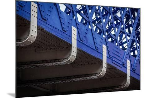 Blue Bridge Detail--Mounted Photographic Print
