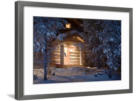 Forest Cottage-WildCat78-Framed Art Print