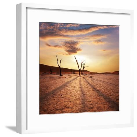 Dead Valley in Namibia-Andrushko Galyna-Framed Art Print
