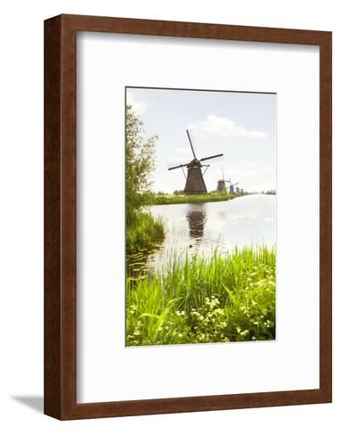 Row of Windmills in Kinderdijk, the Netherlands-Colette2-Framed Art Print