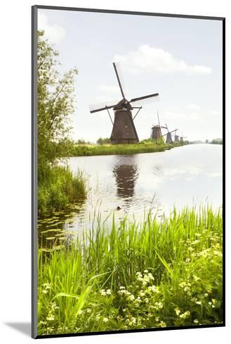 Row of Windmills in Kinderdijk, the Netherlands-Colette2-Mounted Photographic Print
