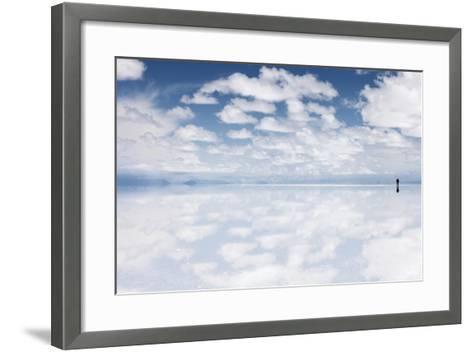 Salar De Uyuni, Salt Flat in Bolivia - Biggest Salt Lak? in the World-zanskar-Framed Art Print