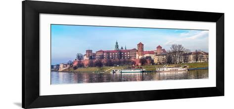 Cracow Skyline with Aerial View of Historic Royal Wawel Castle and City Center-bloodua-Framed Art Print