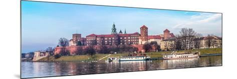 Cracow Skyline with Aerial View of Historic Royal Wawel Castle and City Center-bloodua-Mounted Photographic Print