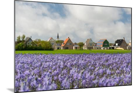 Small Village Den Hoorn with White Church at Dutch Wadden Island Texel-Ivonnewierink-Mounted Photographic Print