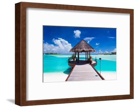 Jetty with Amazing Ocean View on Tropical Island-Martin Valigursky-Framed Art Print