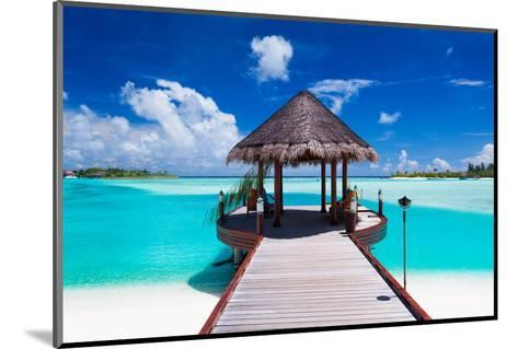 Jetty with Amazing Ocean View on Tropical Island-Martin Valigursky-Mounted Photographic Print