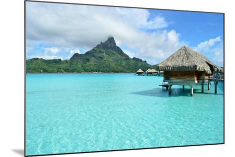 Luxury Overwater Vacation Resort on Bora Bora-pljvv-Mounted Photographic Print