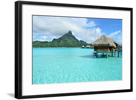 Luxury Overwater Vacation Resort on Bora Bora-pljvv-Framed Art Print