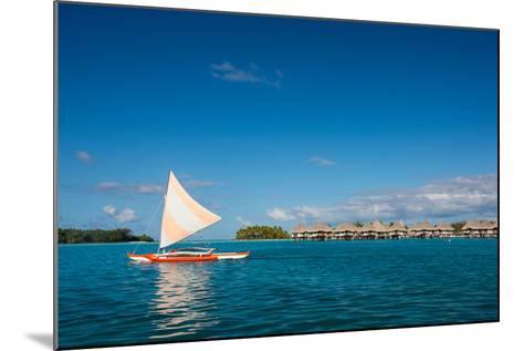 Sunset Sailing at Beautiful Bora Bora Lagoon-BlueOrange Studio-Mounted Photographic Print