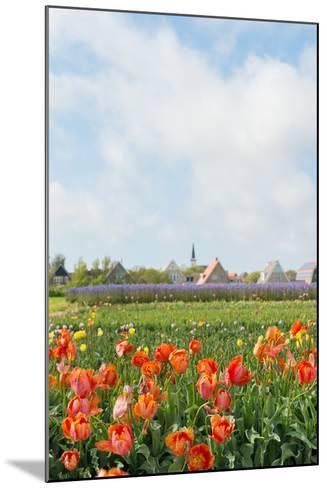 Small Village Den Hoorn with White Church at Dutch Wadden Island Texel-Ivonnewierink-Mounted Photographic Print