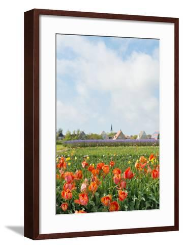 Small Village Den Hoorn with White Church at Dutch Wadden Island Texel-Ivonnewierink-Framed Art Print