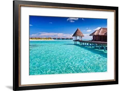 Overwater Spa in Blue Lagoon around Tropical Island-Martin Valigursky-Framed Art Print