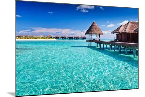 Overwater Spa in Blue Lagoon around Tropical Island-Martin Valigursky-Mounted Photographic Print