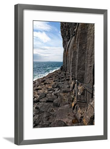 Basalt Columns by the Sea on the Isle of Staffa, Scotland-Spumador-Framed Art Print