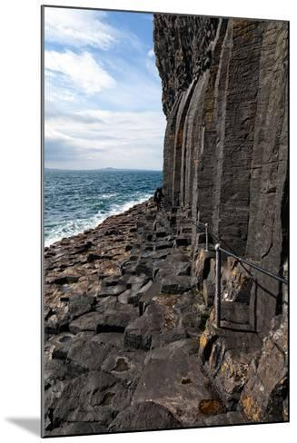 Basalt Columns by the Sea on the Isle of Staffa, Scotland-Spumador-Mounted Photographic Print