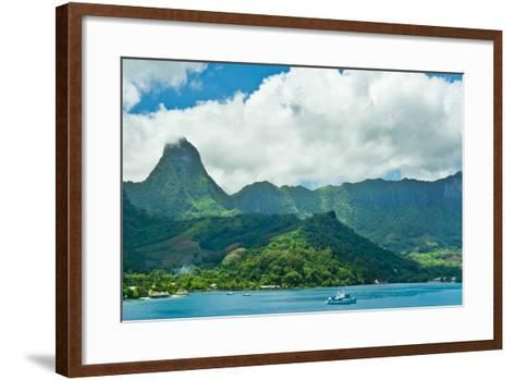 Paradise View of Moorea Islands, Cook's Bay, French Polynesia-mffoto-Framed Art Print