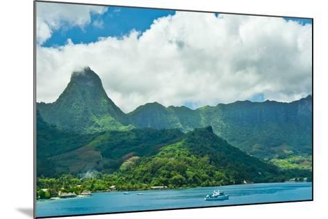 Paradise View of Moorea Islands, Cook's Bay, French Polynesia-mffoto-Mounted Photographic Print