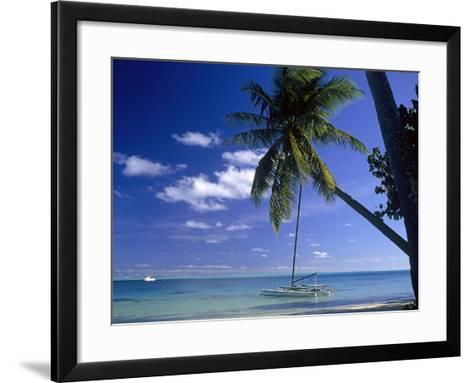 Catamaran Bora Bora-Ron Whitby Photography-Framed Art Print