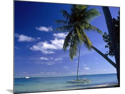 Catamaran Bora Bora-Ron Whitby Photography-Mounted Photographic Print