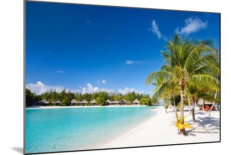 Beautiful Beach on Bora Bora Island in French Polynesia-BlueOrange Studio-Mounted Photographic Print