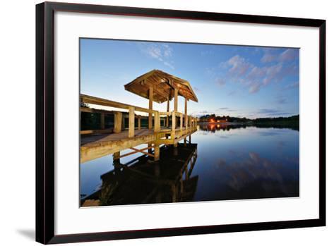 Country Lake in North Georgia, Usa.-SeanPavonePhoto-Framed Art Print
