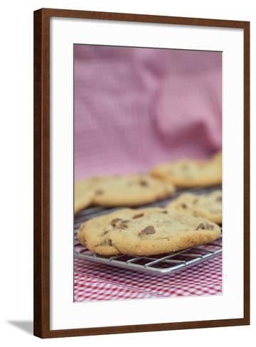 Beautiful Fresh Hand Made Chocolate Chip Cookies-Veneratio-Framed Art Print