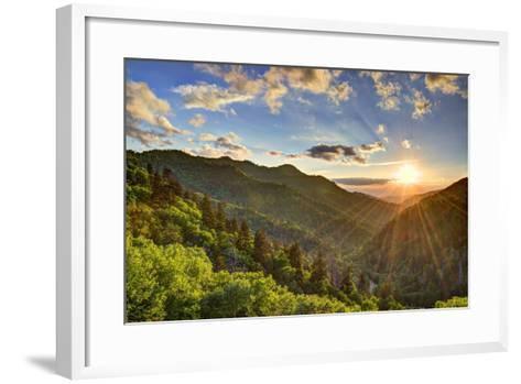 Newfound Gap in the Smoky Mountains near Gatlinburg, Tennessee.-SeanPavonePhoto-Framed Art Print