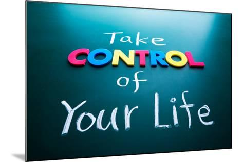 Take Control of Your Life Concept-AnsonLu-Mounted Photographic Print