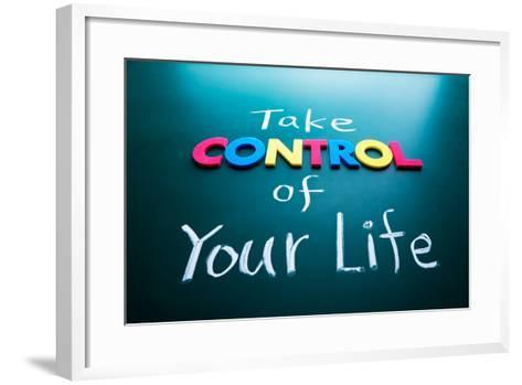 Take Control of Your Life Concept-AnsonLu-Framed Art Print