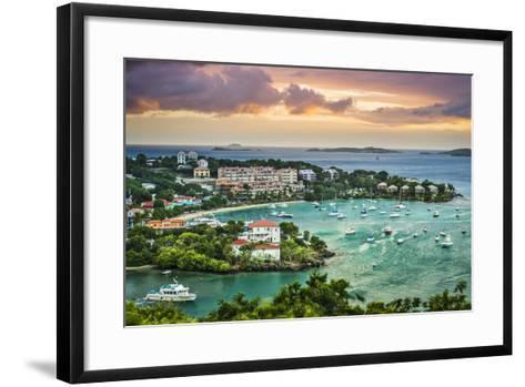 Cruz Bay, St John, United States Virgin Islands.-SeanPavonePhoto-Framed Art Print