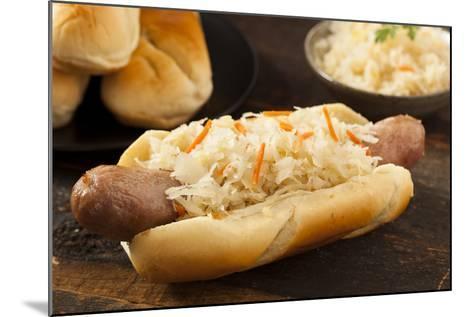 Homemade Bratwurst with Sauerkraut-bhofack22-Mounted Photographic Print