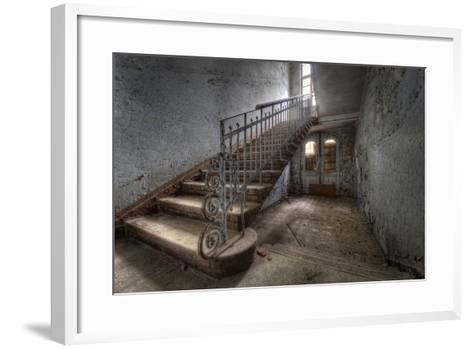 Hospital Stairs-kre_geg-Framed Art Print