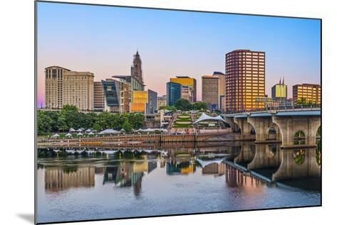 Skyline of Downtown Hartford, Connecticut.-SeanPavonePhoto-Mounted Photographic Print
