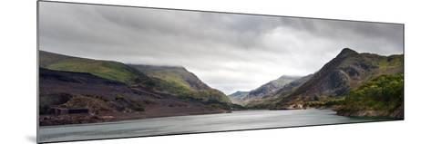 View along Llanberis Pass towards Glyder Fawr and Snowdon-Veneratio-Mounted Photographic Print