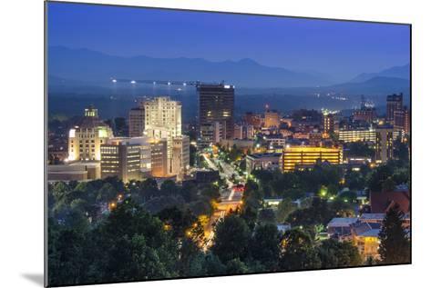 Asheville, North Carolina, USA at Twilight.-SeanPavonePhoto-Mounted Photographic Print