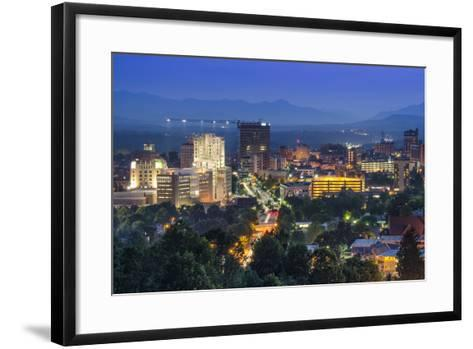 Asheville, North Carolina, USA at Twilight.-SeanPavonePhoto-Framed Art Print