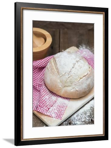 Freshly Baked French Pain De Campagne Loaf of Bread-Veneratio-Framed Art Print