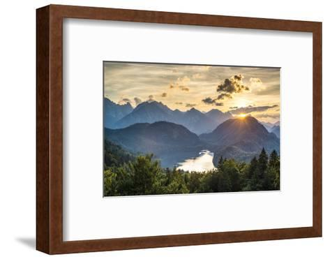 Lake Alpsee in the Bavarian Alps of Germany.-SeanPavonePhoto-Framed Art Print
