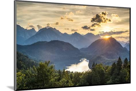 Lake Alpsee in the Bavarian Alps of Germany.-SeanPavonePhoto-Mounted Photographic Print