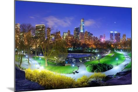 Central Park and Cityscape of New York City-SeanPavonePhoto-Mounted Photographic Print